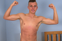 EnglishLads.com Video Shoot - Niall Walsh - Young Straight Footballer Niall Shows off his Hole, Dildo's it & Shoots!
