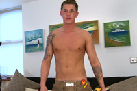 EnglishLads.com Video Shoot - Hunter Hay - Lean Young Electrician Hunter Shows Off His Big Uncut Cock & Hairy Hole!