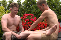 EnglishLads.com Video Shoot - Jack Windsor, Tom Sutcliffe - Massively Hung Straight Lad Tom gets his 1st Wank and Blow from a Man!