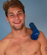 EnglishLads.com Photo Shoot - Ricky Hampton - Cheeky Young Straight Pup Ricky Pumps his Hole for the 1st Time & Explodes!