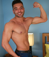 EnglishLads.com Photo Shoot - George Perkins - Tall & Muscular Stripper George Shows His Uncut Cock is as Impressive as his Physique!