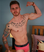 EnglishLads.com Photo Shoot - Patrick West - Straight Young Footballer & Singer Shows off His Ultra Hard Uncut Cock!