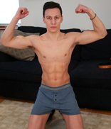EnglishLads.com Photo Shoot - Jason Denby - Straight Young Footballer Jason Shows off His Toned Body & Rock Hard Uncut Big Cock!
