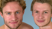 Straight Blond Hunks Aaron & Harry Have a Sword Fight - Their 1st Man Contact!