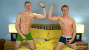 Two Straight Blond Hunks with Beautifully Hard Uncut Erections!