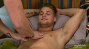 Straight Cheeky Hung Stud Ricky Gets 1st Man Wank & Explodes Big!