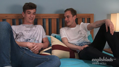 Young Straight Lads Luke and Caspar Spank & Wank each Others Uncut Cocks!