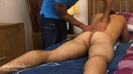 Muscular Straight Hairy Hunk Doug Lets Dan be the 1st Guy to Play with his Big Uncut Cock