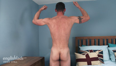 Ripped Straight Lad Ellis shows off his Hot Body and Wanks his Long Hard Uncut Cock