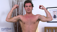 Hairy Swimmer Jakob strips to his tiny Swimmers & reveals an Impressive uncut one