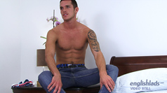 Straight Footie Ace Jay Shoves in a Toy & Dumps Massive Load