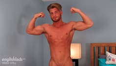 Straight Young Pup Justin Shows his Big Uncut Cock & Fires Cum Like a Water Canon!