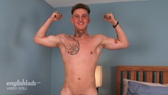 Straight Young Pup Lachlan Shows Off His Fit Body and Hard Uncut Cock!