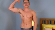 Muscular, Straight Young Logan Wanks his Big Cock & Fingers his Hole!