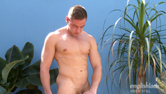 Straight Muscular Hunk Max Shows His Hole and Shoots Loads of Cum from his Uncut Cock!