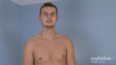 Straight Footballer Mike Strips, Wanks His Uncut Cock and Cums Bucket Loads!
