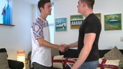 Young Straight Hunk Logan is Fucked for First Time by Straight Lad Sam!