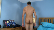 Tall Lean Straight Lad Simon Shows Off His Large Uncut Cock