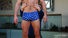 Muscular & Hairy Big Cocked Uncut Stud Tom Lawson Wanks his 1st Man & Shoots a Massive Load!