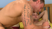 Cheeky Straight Lad Ricky gets his 1st Man Blow Job & Former Royal Marine Tyler Sucks!
