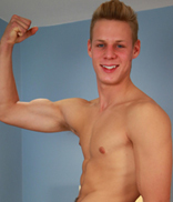 Englishlads.com: Muscular Straight Blond Pup Dan Shows us his Big Cock and Hairy Hole!