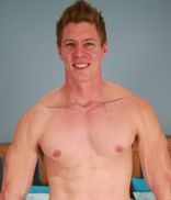 Englishlads.com: Muscular & Tall Straight Body Guard Eddie Shows us his Big Uncut Weapon!