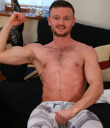 Englishlads.com: Straight Boxer James Strips & Shows us his Hairy Body and Rock Solid Uncut Cock!