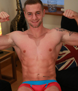 Englishlads.com: Young Muscular Man Thomas Shows his Perfect Body & Rock Solid Uncut Large Cock!