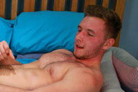 Bonus Video of Aiden Walsh's Photo Shoot - Tall Blond Muscular & Straight with a Big Uncut Cock!