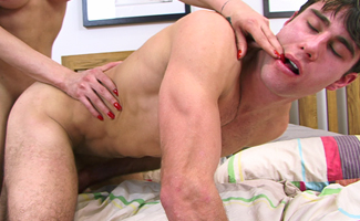 Str8 hunky boy Alex - Is that a cock in your mouth and cock in your ass?!
