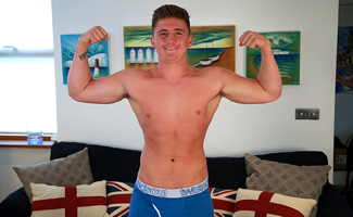 Bonus Video of Anthony Forde's Photo Shoot - Straight Footballer Shows us his Massive 9 Inch Uncut Cock!