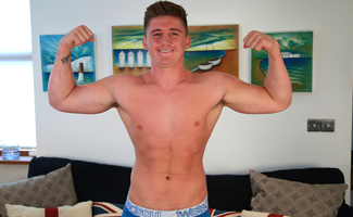 Muscular Young Footballer Shows us his Hefty & Ultra Long Uncut Cock!