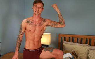 Tall and Toned Young Straight Lad Barclay Shows off his Long & Thick Uncut Cock!