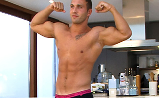 Englishlads.com: Bonus Video of Photo Shoot - Straight Muscular Hung James Branson Pumps Out a Load!
