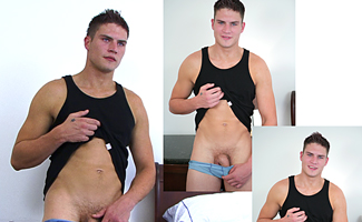 Englishlads.com: BONUS VIDEO UPDATE - Str8 Hunk Josh Gets his first Blow job from a Guy