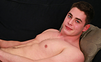 Bonus Video of Damian's Photo Shoot - Young Straight Muay Thai Expert Shows his Big Uncut Cock!