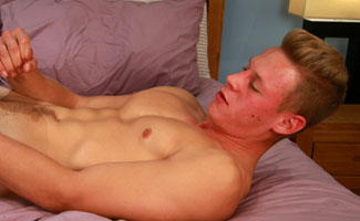 Bonus Video of Dan Fellow's Photo Shoot - Muscular Straight Blond Pup Shows us his Big Cock!