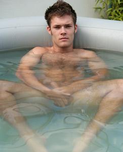 Hot tub naked