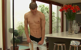 Englishlads.com: Ed strokes his uncut meat