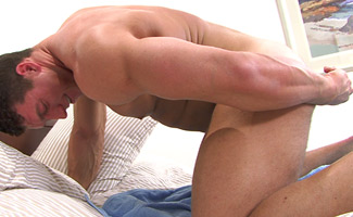 Connell Bracken Big Muscular Body Guard Connell - Straight Hunk Plays with Dildos!