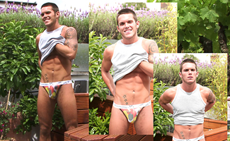 Jay Hall BONUS VIDEO - Hunky Footie Player J's video of the Photoshoot