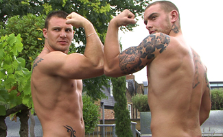 Bailey Morgan & Andy Lee BONUS VIDEO - Str8 Mates Bailey & Andy's Photo Shoot Video - Cum Everywhere!