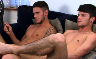 Oli Hall & Jay Hall Bonus Video of Oli and Jay's Photo Shoot - Str8 Brothers Wank in Front of Each Other!
