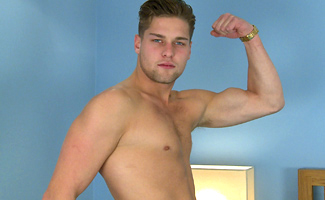 Ricky Hampton Cheeky Straight Blond Lad Ricky Shows Off His Body & Massive 9 Inch Cock!