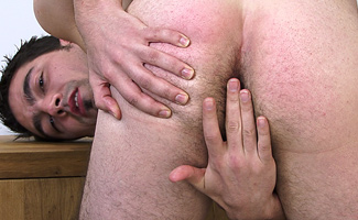 Jono Stevens Hairy str8 lad Jono - pulls them down and up it springs!