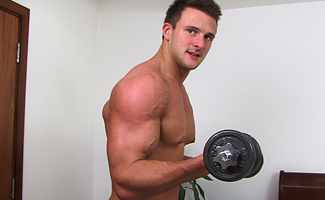 Drew Daniels Hunky Straight Rugby Stud Drew Daniels gets Manhandled & Wanked to Cum Shot