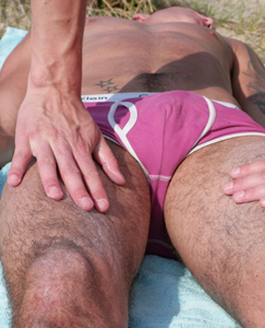 Englishlads.com: Hunky Straight Stud Jay gets his First Man Handling & Really Enjoys it!