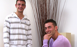 Justin Harris & Jason Connor Jason fucks Justin in one hot shoot - and the rimming is just the beginning!