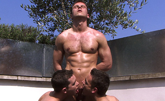 Kev Adamson & Jason Connor & Hayden Harris Mr Liverpool Hayden - is that a cock in both hands!