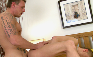 Tyler Hirst & Josh Perry Muscular Royal Marine Tyler gets Rimmed & Fucks Josh real Hard